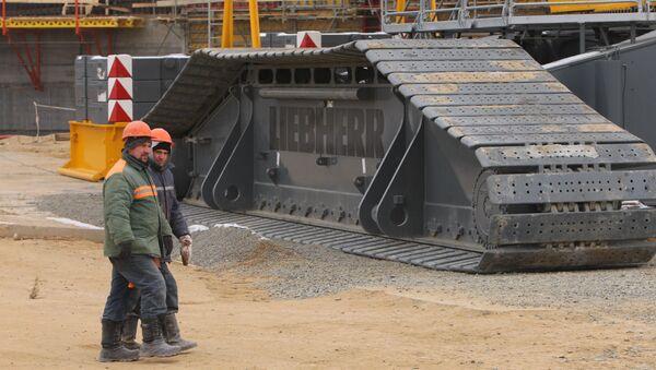 Рабочие на строительстве БелАЭС - Sputnik Беларусь