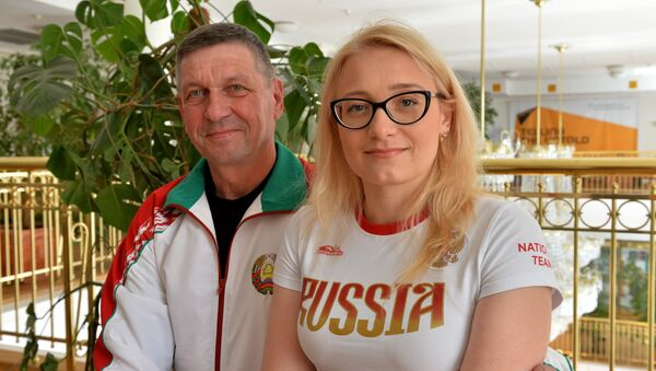 Валерый Каламіец і Ірына Гардзеева - Sputnik Беларусь