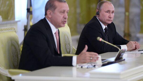 Встреча президентов России и Турции В. Путина и Р. Эрдогана в Санкт-Петербурге - Sputnik Беларусь