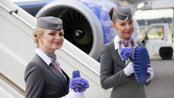 Стюардессы авиакомпании Белавиа, архивное фото - Sputnik Беларусь