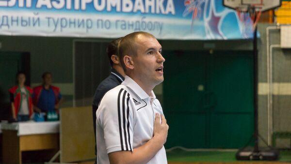 Сяргей Федарчук, трэнер каманды па міні-футболу Львоўскай мытні - Sputnik Беларусь