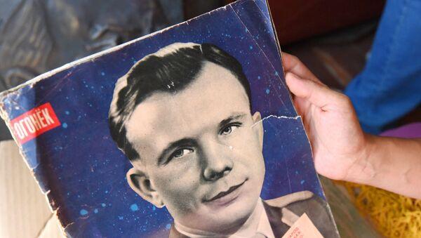 Юрий Гагарин на обложке журнала Огонек, архивное фото - Sputnik Беларусь