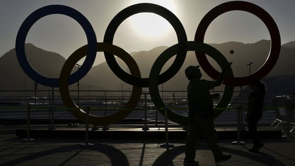 Олимпийские кольца в Рио-де-Жанейро - Sputnik Беларусь