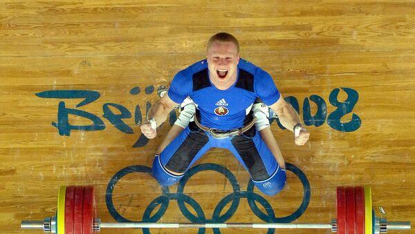 Прызёр Алімпіяды-2008 беларускі цяжкаатлет Андрэй Рыбакоў - Sputnik Беларусь