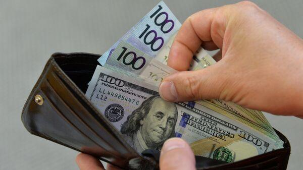 Деньги в кошельке, архивное фото - Sputnik Беларусь