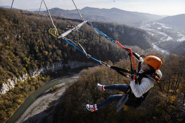 Арэлі SochiSwing у скайпарку Сочы вышынёй 170 метраў. - Sputnik Беларусь