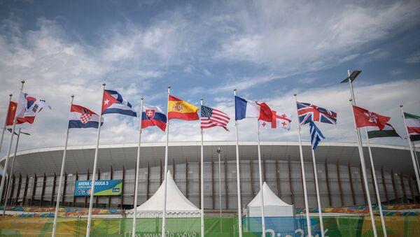 Флаги в Олимпийском парке в Рио - Sputnik Беларусь