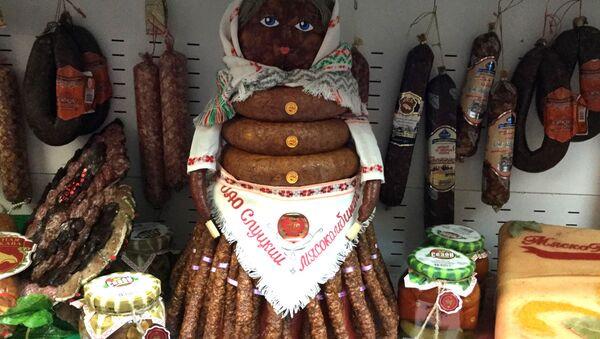 Кілбасная баба на выбарчым участку №1 - Sputnik Беларусь