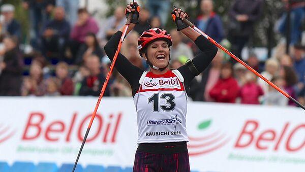 Катрин Ланг победила в масс-старте на Гонке легенд - Sputnik Беларусь