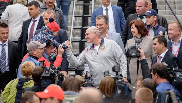 Глава государства приехал вместе с младшим сыном Николаем - Sputnik Беларусь