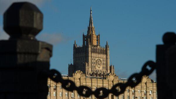 Вид на здание министерства иностранных дел Российской Федерации - Sputnik Беларусь