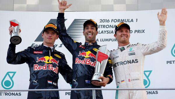 Тройка призеров Гран-при Малайзии - Sputnik Беларусь