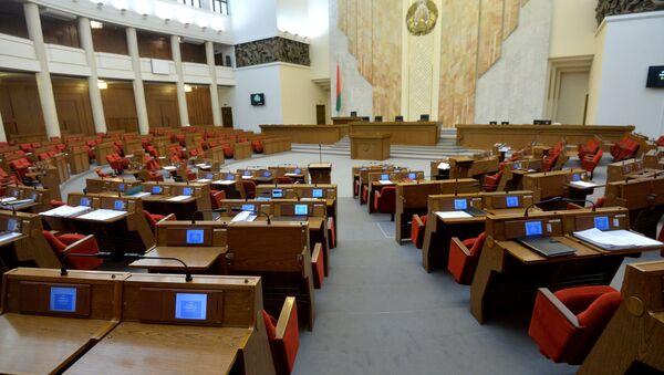 Пустая зала парламента - Sputnik Беларусь