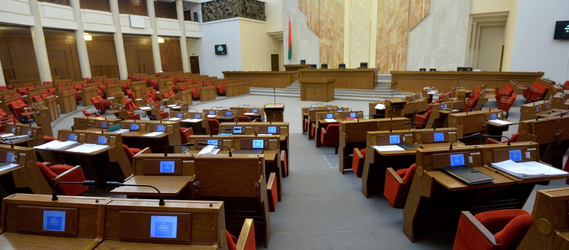 Пустой зал парламента - Sputnik Беларусь, 1920, 23.03.2021