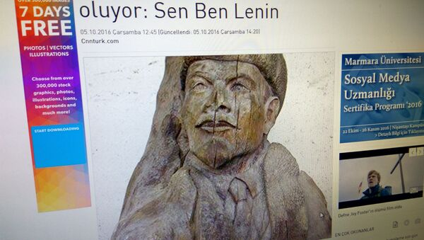 Деревянный бюст Ленина, выброшенный на берег Турции - Sputnik Беларусь