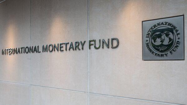 Вывеска на штаб-квартире МВФ в Вашингтоне - Sputnik Беларусь