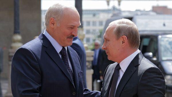 Аляксандр Лукашэнка і Уладзімір Пуцін - Sputnik Беларусь