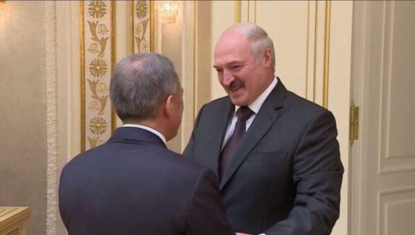 Встреча с президента Беларуси Александра лукашенко с президентом Татарстана Рустамом Миннихановым - Sputnik Беларусь