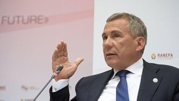 Президент Республики Татарстан Рустам Минниханов - Sputnik Беларусь