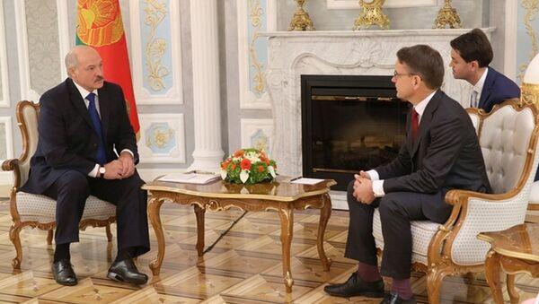 Сустрэча Аляксандра Лукашэнкі з намеснікам Генеральнага сакратара ААН Крысціянам Фрыісам Бахам - Sputnik Беларусь