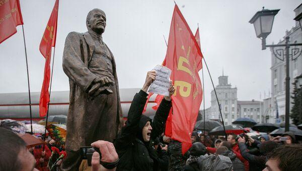 Дмитрий Дашкевич на открытии памятника Ленину - Sputnik Беларусь