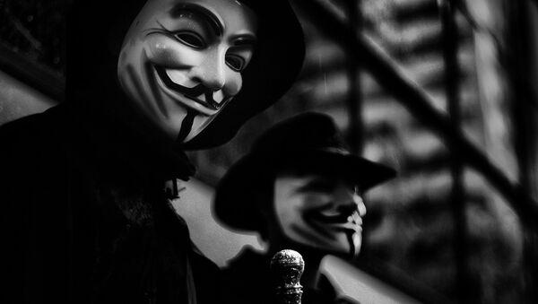 Маска Гая Фокса - символ хакерской группы Anonymous - Sputnik Беларусь