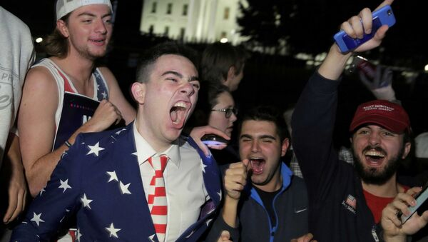 Прыхільнікі кандыдата ў прэзідэнты ЗША рэспубліканца Дональда Трампа - Sputnik Беларусь