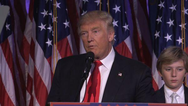 Первая речь избранного президента США Дональда Трампа после победы на выборах - Sputnik Беларусь