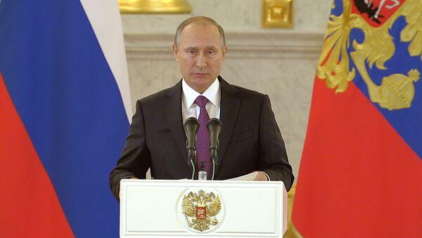 СПУТНИК_Путин поздравил американский народ и победившего Трампа с завершением выборов - Sputnik Беларусь