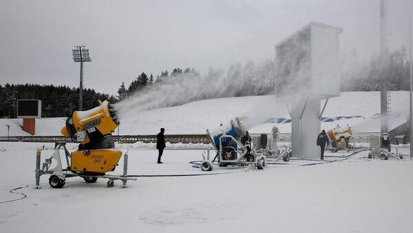 Искусственный снег в Раубичах - Sputnik Беларусь
