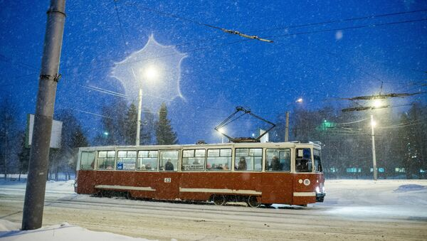 Трамвай у горадзе, архіўнае фота - Sputnik Беларусь