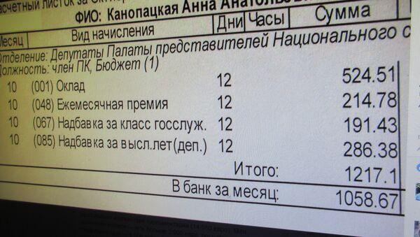 Фота разліковага лістка Ганны Канапацкай - Sputnik Беларусь
