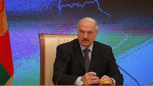 Лукашэнка дае прэс-канферэнцыю прадстаўнікам расійскіх СМІ і блогерам - Sputnik Беларусь