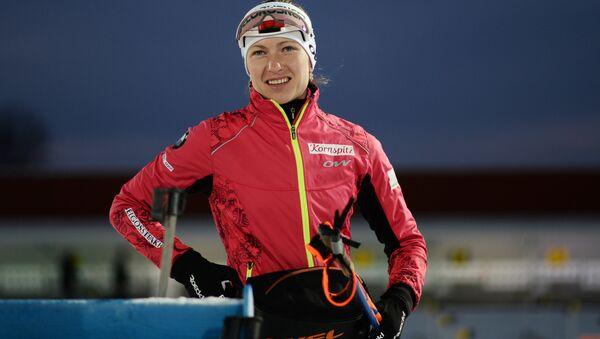 Белорусская биатлонистка Дарья Домрачева - Sputnik Беларусь