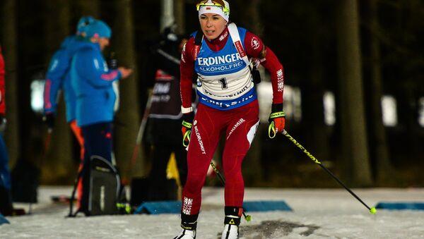 Белорусская биатлонистка Дарья Юркевич в индивидуальной гонке в Эстерсунде - Sputnik Беларусь