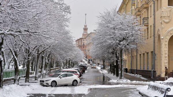 Снег у Мінску - Sputnik Беларусь