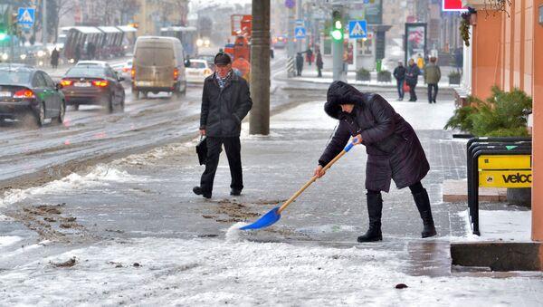 Мокры снег у Мінску, архіўнае фота - Sputnik Беларусь