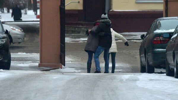 Гололед в городе - Sputnik Беларусь