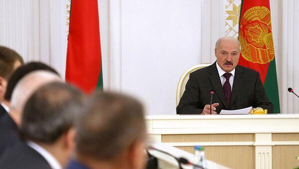 Аляксандр Лукашэнка на нарадзе па праекце дамовы аб Мытным кодэксе ЕАЭС - Sputnik Беларусь
