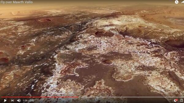 Пейзажы адной з найбуйнейшых далін Марса паказалі на відэа - Sputnik Беларусь