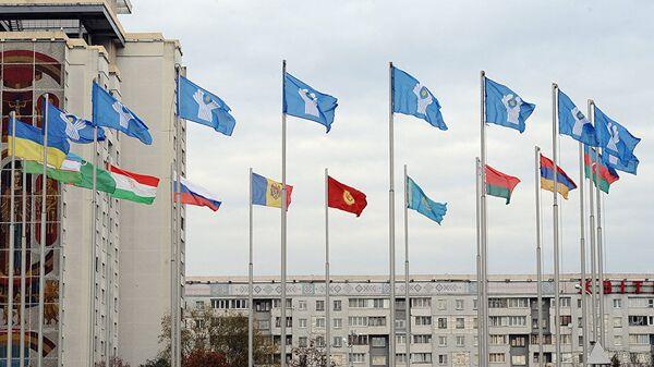 Флаги СНГ, архивное фото - Sputnik Беларусь