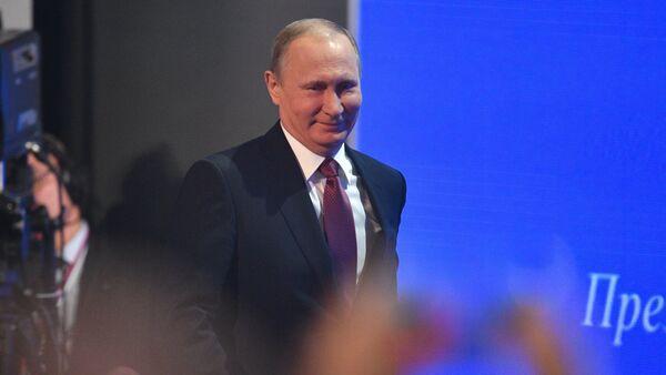 Дванаццатая штогадовая вялікая прэс-канферэнцыя прэзідэнта РФ Уладзіміра Пуціна - Sputnik Беларусь