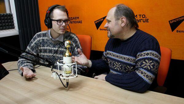 Корреспондент агентства Sputnik Беларусь Евгений Казарцев и ведущий радио Sputnik Беларусь Вячеслав Шарапов - Sputnik Беларусь