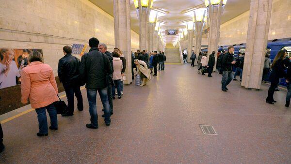 Станция метро Октябрьская - Sputnik Беларусь