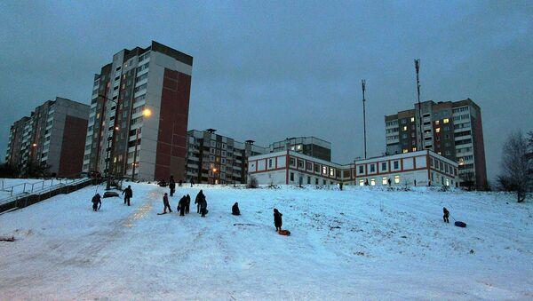 Ледяной спуск – самый популярный - Sputnik Беларусь