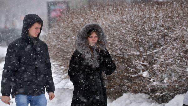 Снег и мороз в Минске - Sputnik Беларусь