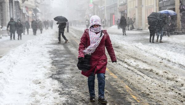 Снегопад в Стамбуле, Турция - Sputnik Беларусь
