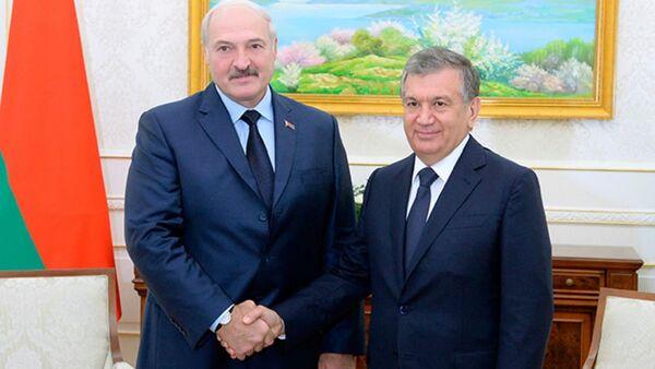 Рабочая встреча президента Беларуси Александра Лукашенко с Шавкатом Мирзиеевым, 6 октября 2016 года - Sputnik Беларусь
