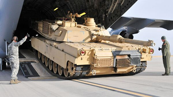 Американский танк  M1 Абрамс, архивное фото - Sputnik Беларусь