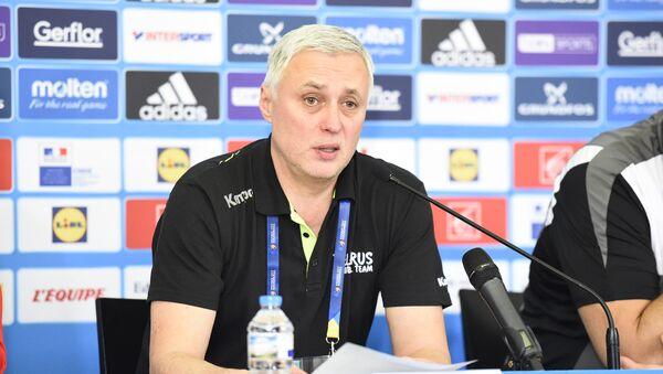 Главный тренер мужской сборной Беларуси по гандболу Юрий Шевцов - Sputnik Беларусь